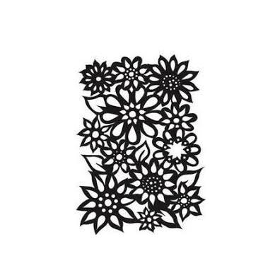 Dylusions 5x8 Stencil - Flower Medley
