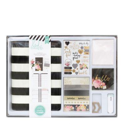 Heidi Swapp Memory Personal Planner Kit Sort/ hvid