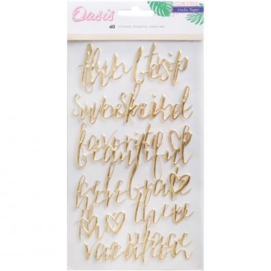 Crate Paper Oasis Puffy wordstickers