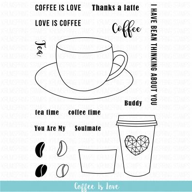 Krumspring Clear Stamp - Coffee is Love