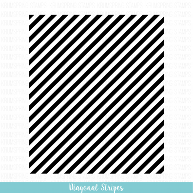 Krumspring Clear Stamp - Diagonal Stripes