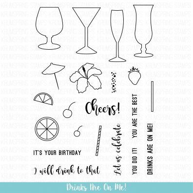 Krumspring Clear Stamp - Drinks are on Me