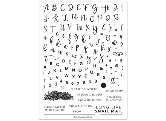 Concord & 9th Perfectly Penned Clear Stamp Set