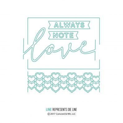 Concord & 9th Love Always Frame Dies
