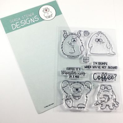 Gerda Steiner Designs Clear Stamps - Coffee Monster