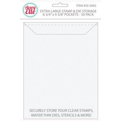 Avery Elle Stamp & Die Storage Pockets - X-large 50/pk