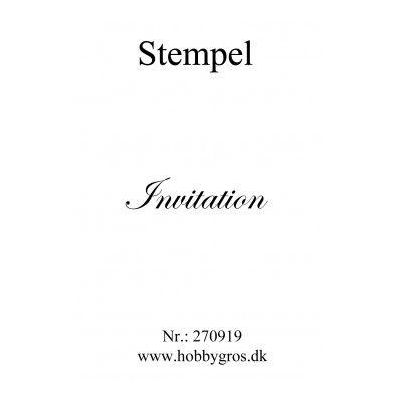 Stempel invitation Clear stamp