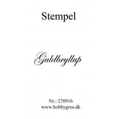 Stempel Guldbryllup Clear stamp