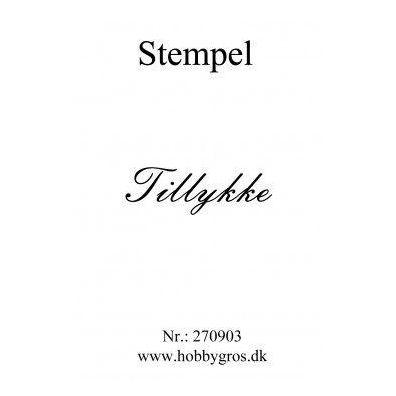 Stempel Tillykke Clear stamp