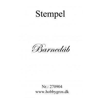 Stempel Barnedåb Clear stamp