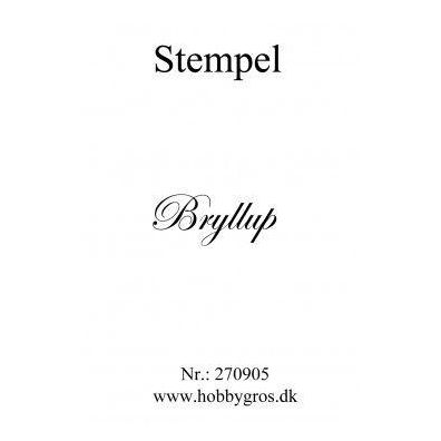 Stempel Bryllup Clear stamp