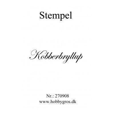 Stempel Kobberbryllup Clear stamp