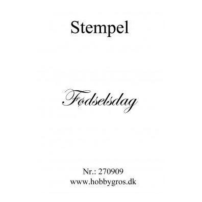 Stempel Fødselsdag Clear stamp