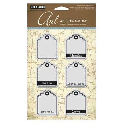 Hero Arts Cling stamp Little Tags