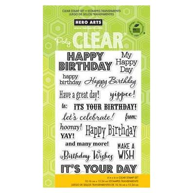 Hero Arts Clear stamp It's your day