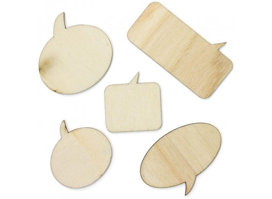 Studio Calico Wood Veneer Speechbubbles