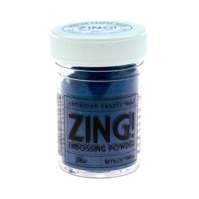 Zing Embossing pulver Metallic Blue