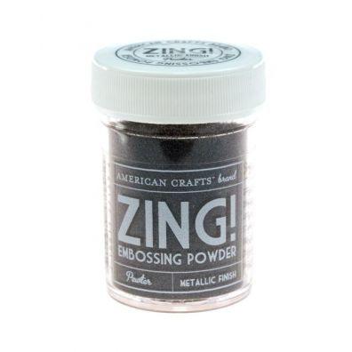 Zing Embossing pulver Metallic Pewter