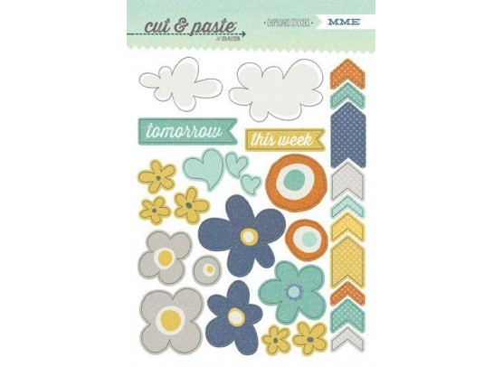 My Minds Eye Cut & Paste - Carefree Chipboard Stickers