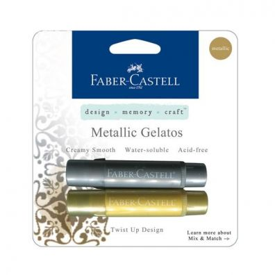 Faber Castell Color Gelatos Metallic Gold & Silver