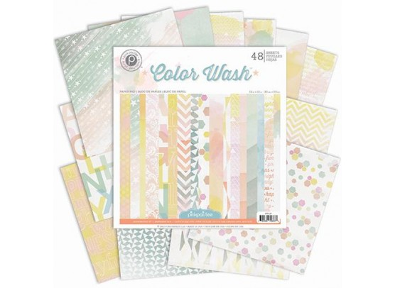 Color Wash 12x12 Paper Pad - Pink Paislee
