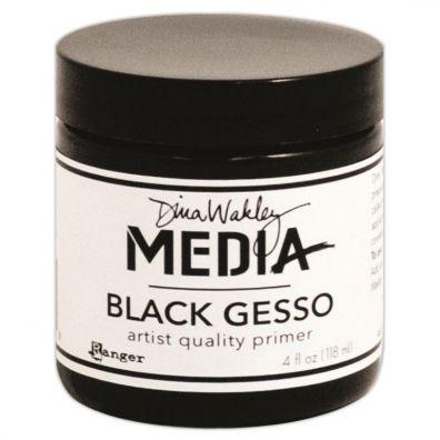Dina Wakley Media - Black Gesso - 4oz
