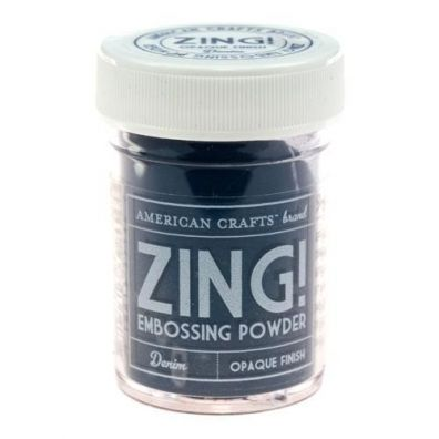 Zing Embossing pulver Denim