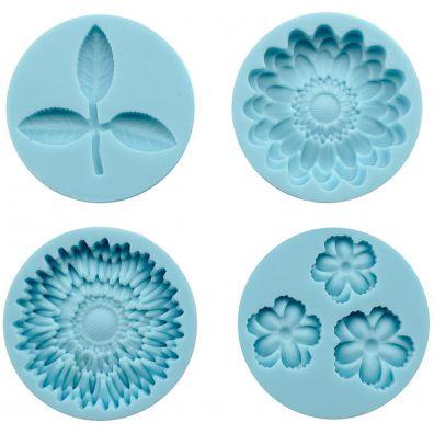 Martha Stewart Silicone Molds - Flowers and Leaf