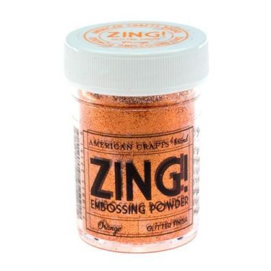 Zing Embossing pulver Orange Glitter