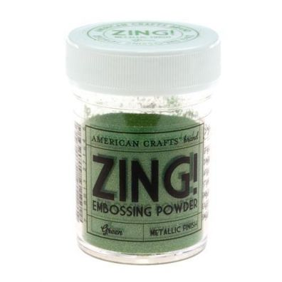 Zing Embossing pulver Metallic Green