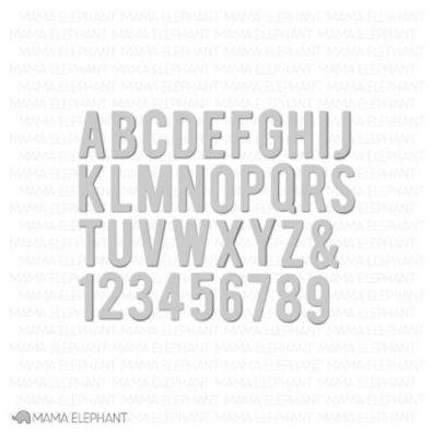 Mama Elephant Creative Cuts - Inline Letters