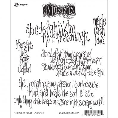 Dylusions Cling Stamp - The Write Words