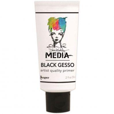 Dina Wakley Black Gesso - Tube