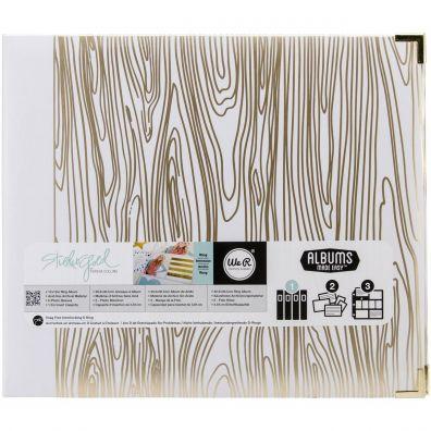 We R Memorykeepers - Teresa Collins Wood Grain 12x12 D-ring Albu