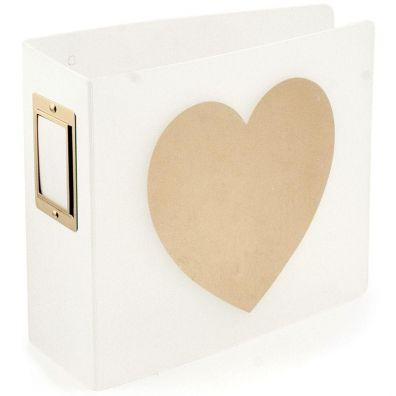 "We R Memorykeepers - Teresa Collins Heart 4x4"" D-ring Album"