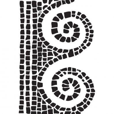 Dina Wakley Stencil/ Mask - Mosaic Swirl