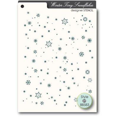 Memory Box Mask/ Stencil Tiny Snowflakes