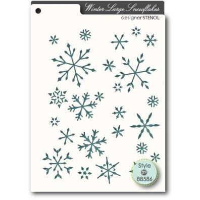 Memory Box Mask/ Stencil Tiny Large Snowflakes