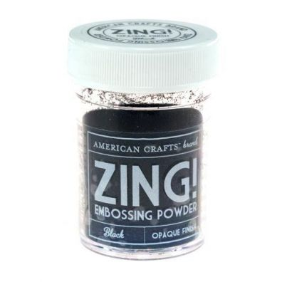 Zing Embossing pulver Black