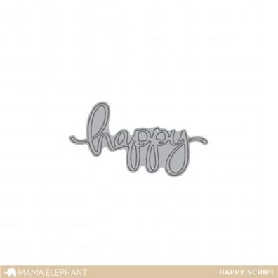 Mama Elephant Creative Cuts - Happy Script