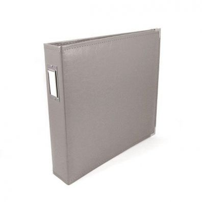 We R Memorykeepers Classic Leather Album 12x12 - Charcoal Grey