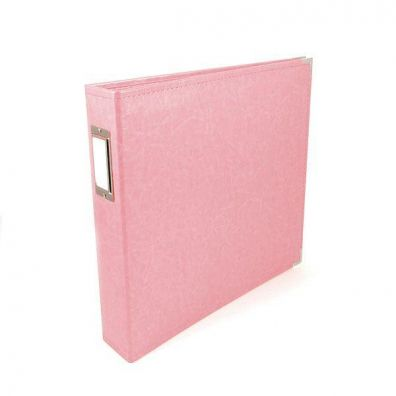 We R Memorykeepers Classic Leather Album 12x12 - Pretty Pink