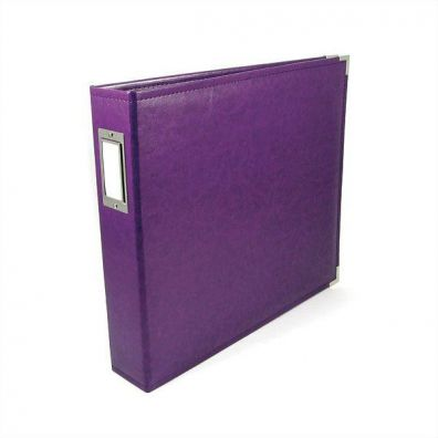 We R Memorykeepers Classic Leather Album 12x12 - Grape Soda