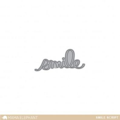 Mama Elephant Creative Cuts - Smile Script