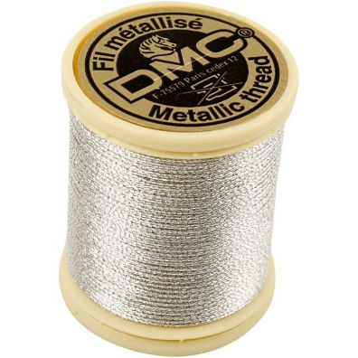 DMC Tråd - sølv 0,8mm - 40m
