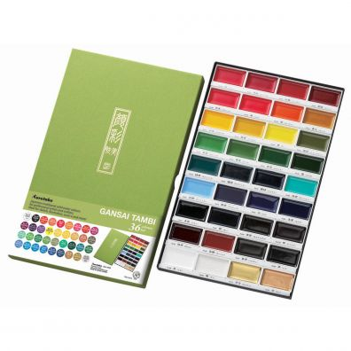 Kuretake Gansai Tambi Water Colours 36 colours