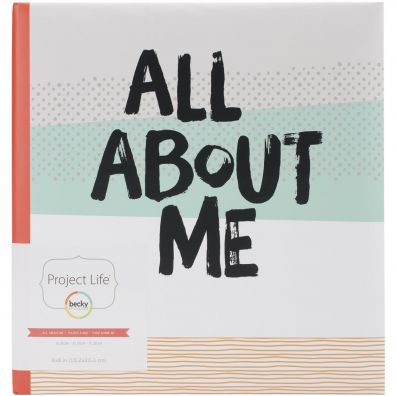 """Project Life 6x8"""" Album - All About Me"""