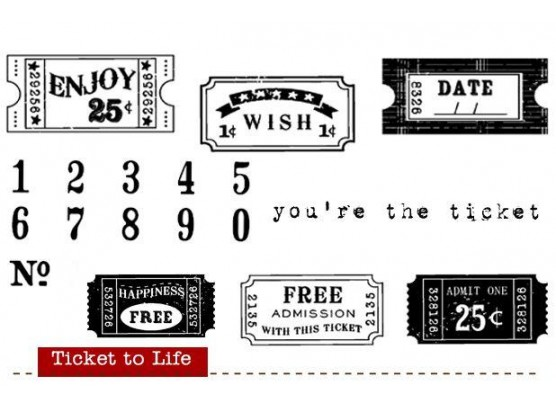 Ticket to Life - Stempelsæt fra Unity Stamp Company
