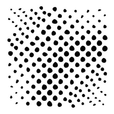 The Crafters Workshop Stencil - Mini Halftone Circles 6x6