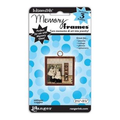 Ranger Inkssentials Memory frames 1½x1½ antique copper 3 pcs